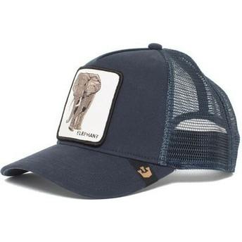 Boné trucker azul marinho elefante Elephant da Goorin Bros.