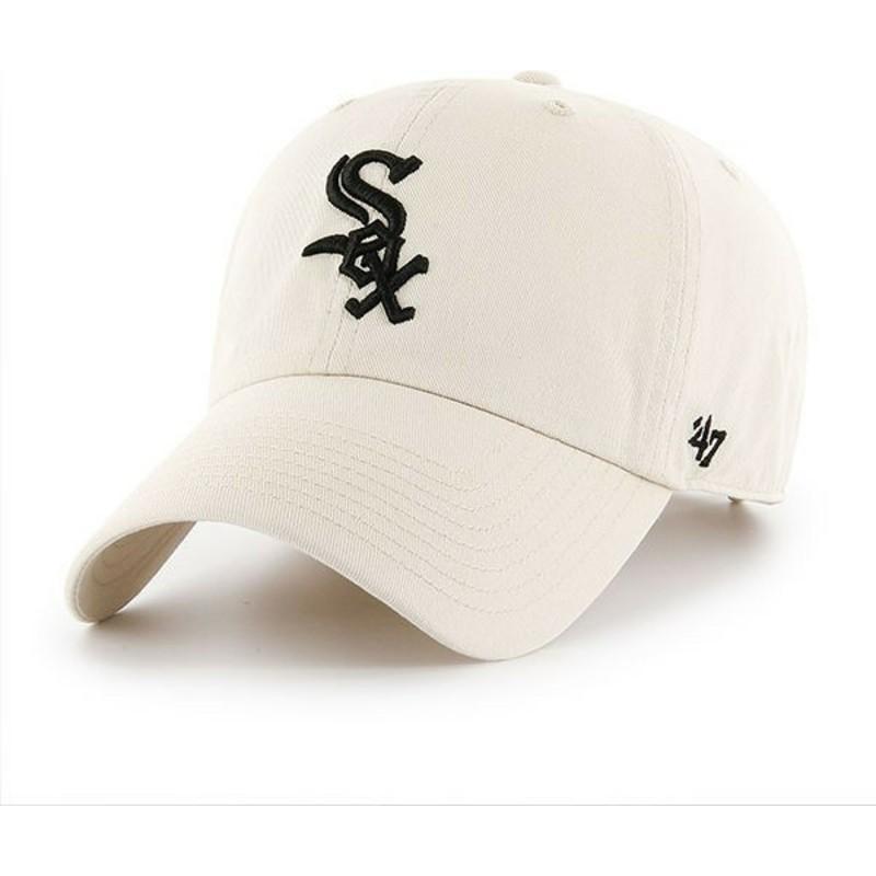 892132da9 Boné curvo creme da Chicago White Sox MLB Clean Up da 47 Brand ...