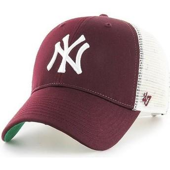 Boné trucker grená da New York Yankees MLB MVP Branson da 47 Brand