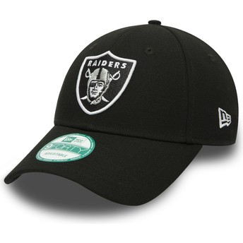 Boné curvo preto ajustável 9FORTY The League da Oakland Raiders NFL da New Era