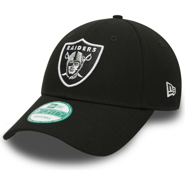Boné curvo preto ajustável 9FORTY The League da Oakland Raiders NFL ... 7e8d36739ce