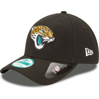 Boné curvo preto ajustável 9FORTY The League da Jacksonville Jaguars NFL da New Era