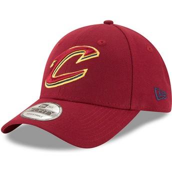 Boné curvo vermelho ajustável 9FORTY The League da Cleveland Cavaliers NBA da New Era