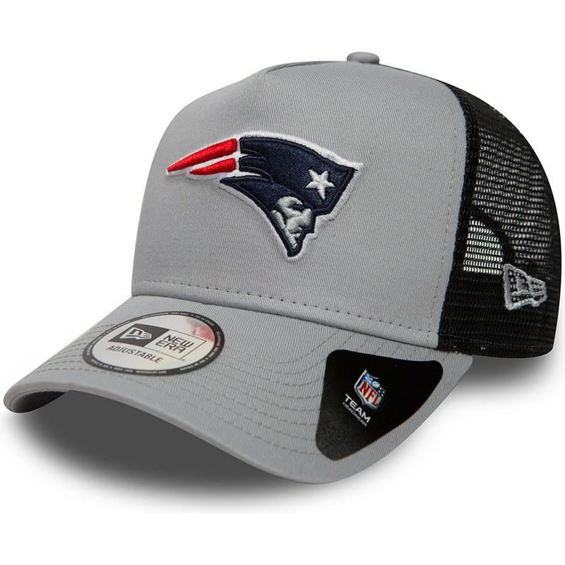 Boné trucker cinza Essential A Frame da New England Patriots NFL da ... ed499d56078