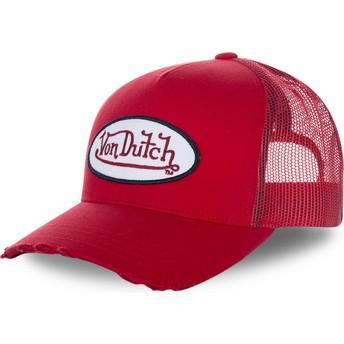 Boné trucker vermelho FRESH01 da Von Dutch