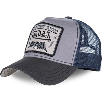 Boné trucker cinza e azul SQUARE3B da Von Dutch