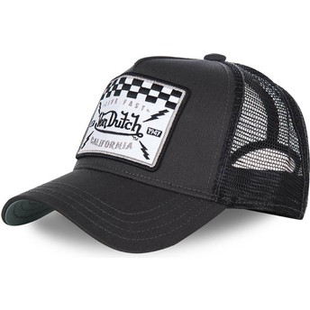 Boné trucker preto SQUARE8B da Von Dutch