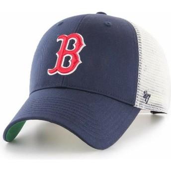 Boné trucker azul marinho da Boston Red Sox MLB MVP Branson da 47 Brand