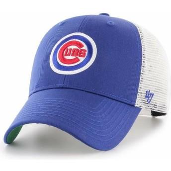 Boné trucker azul da Chicago Cubs MLB MVP Branson da 47 Brand