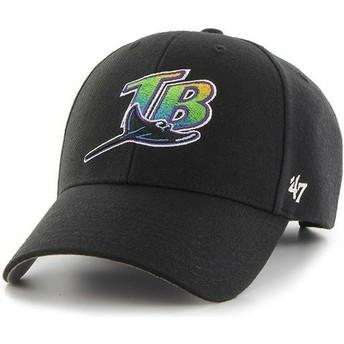 Boné curvo preto da Tampa Bay Rays MLB MVP da 47 Brand