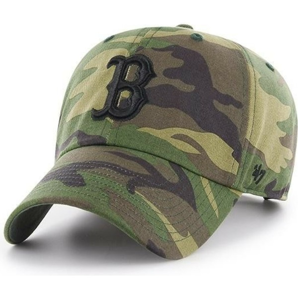 bone-curvo-camuflagem-com-logo-preto-da-boston-red-sox-clean-up-unwashed-da-47-brand
