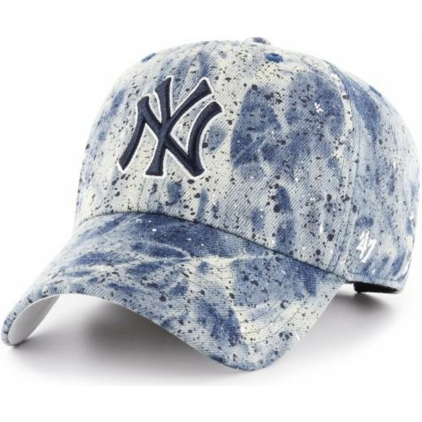 bone-curvo-azul-com-logo-azul-da-new-york-yankees-mlb-clean-up-splat-da-47-brand