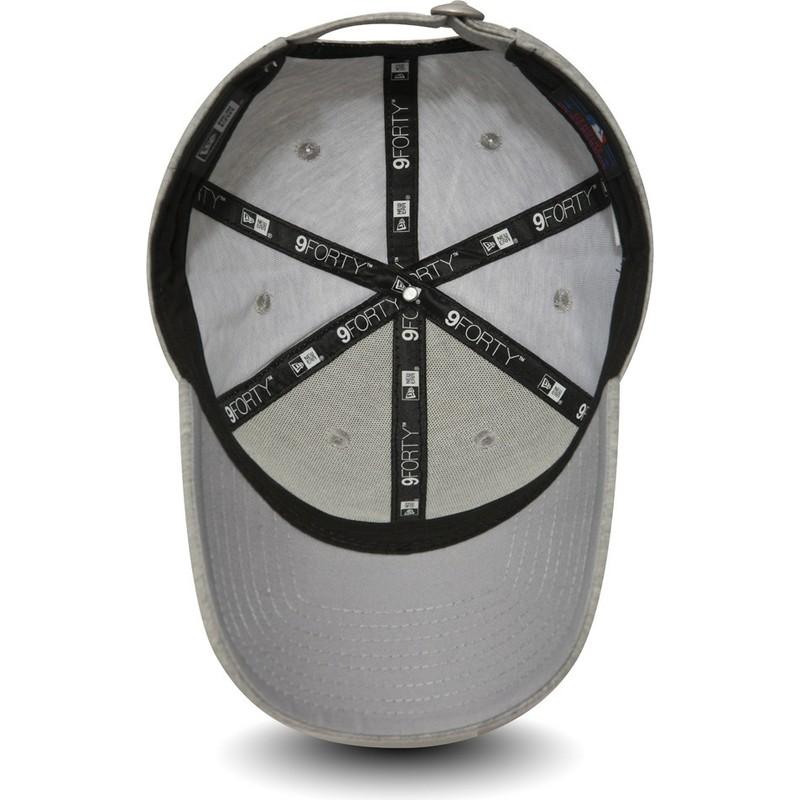 Boné curvo cinza ajustável com logo cinza da New York Yankees MLB ... 40dc2773a32