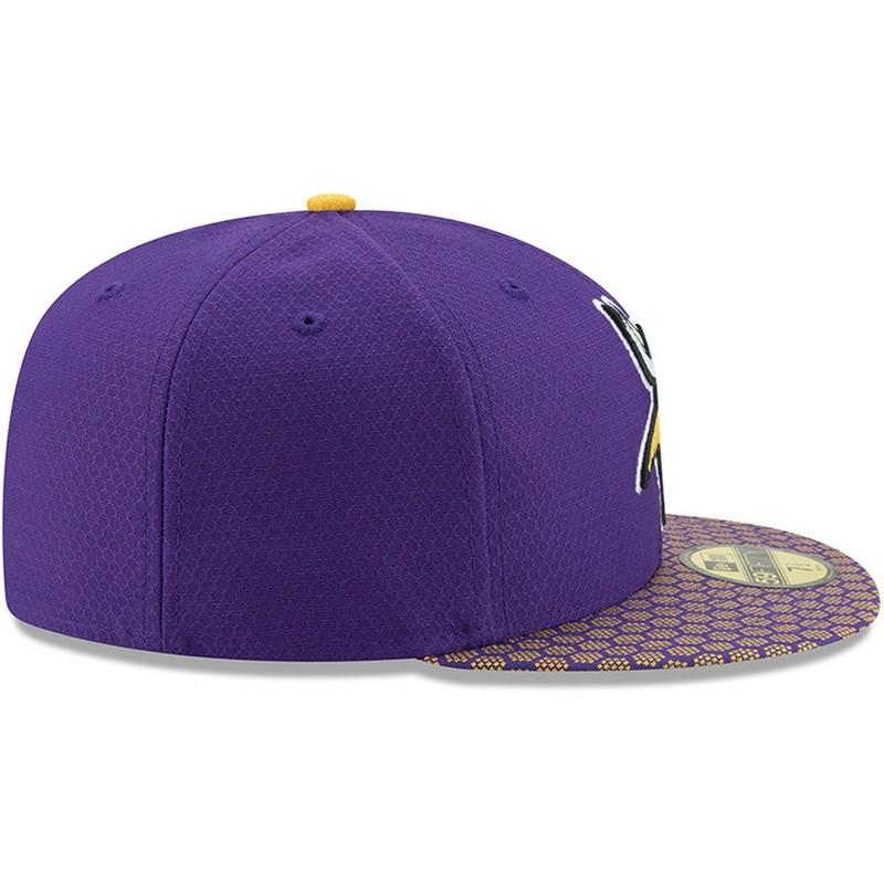 ... Vikings NFL da New Era. bone-plano-violeta-justo-59fifty-sideline-da- minnesota- 29ce98c04702e