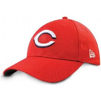 Boné curvo vermelho ajustável 9FORTY The League da Cincinnati Reds MLB da New Era