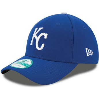 Boné curvo azul ajustável 9FORTY The League da Kansas City Royals MLB da New Era
