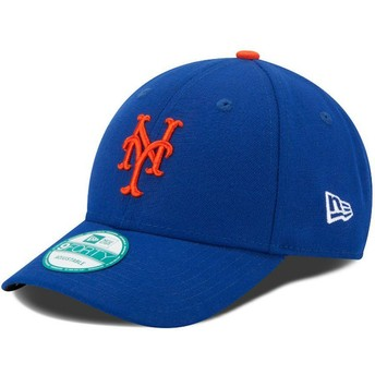 Boné curvo azul ajustável 9FORTY The League da New York Mets MLB da New Era