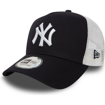 Boné trucker azul marinho Clean A Frame 2 da New York Yankees MLB da New Era