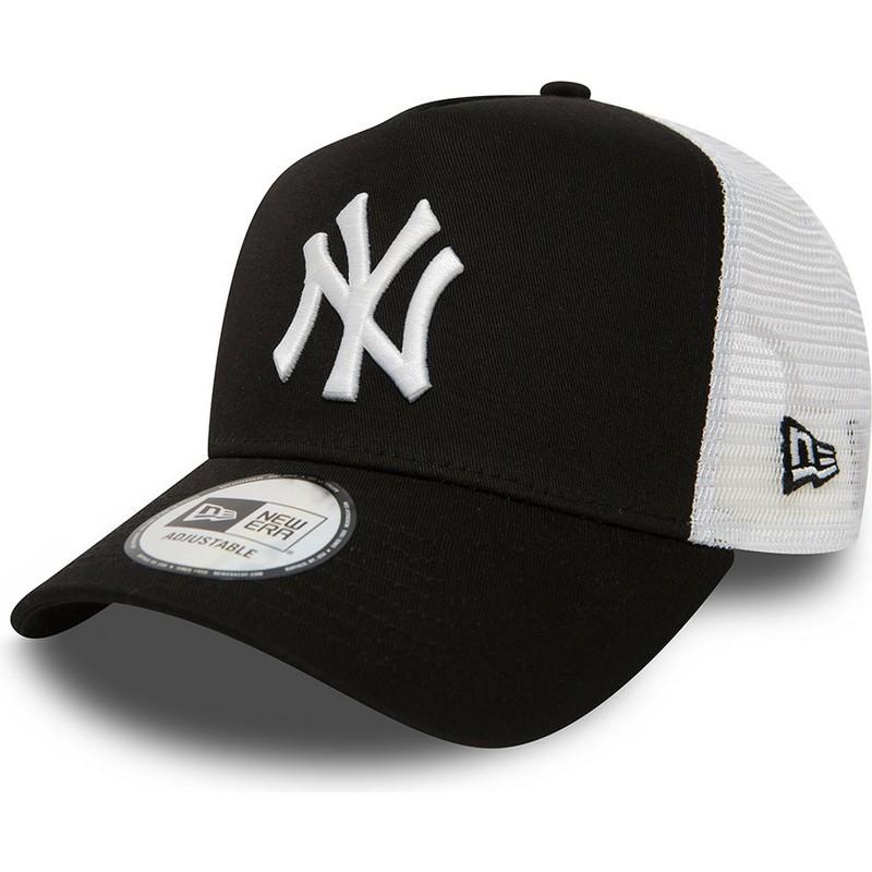 3ea3a7cdd Boné trucker preto Clean A Frame 2 da New York Yankees MLB da New ...