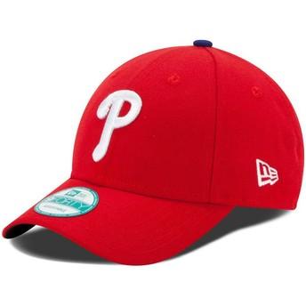 Boné curvo vermelho ajustável 9FORTY The League da Philadelphia Phillies MLB da New Era