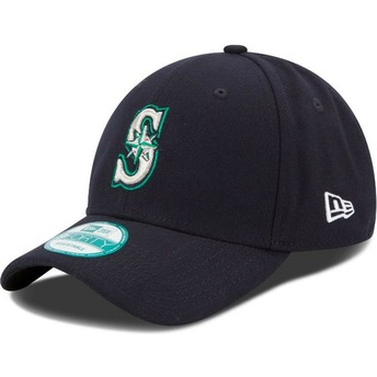 Boné curvo azul marinho ajustável 9FORTY The League da Seattle Mariners MLB da New Era