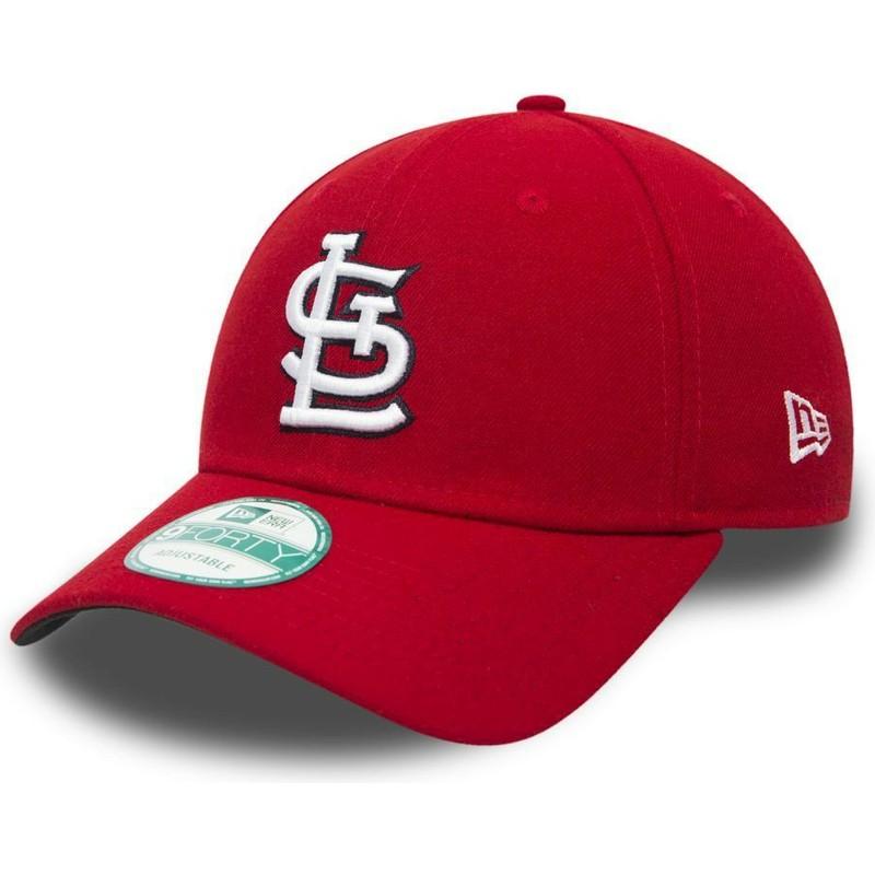 Boné curvo vermelho ajustável 9FORTY The League da St. Louis ... 71e4afc78de