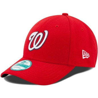Boné curvo vermelho ajustável 9FORTY The League da Washington Nationals MLB da New Era