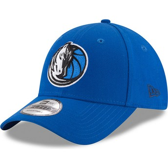 Boné curvo azul ajustável 9FORTY The League da Dallas Mavericks NBA da New Era