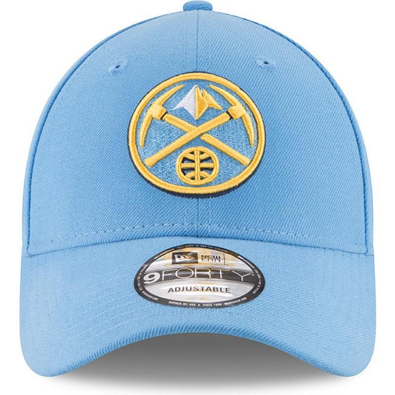 Boné curvo azul claro ajustável 9FORTY The League da Denver Nuggets ... c5dd711c8b8
