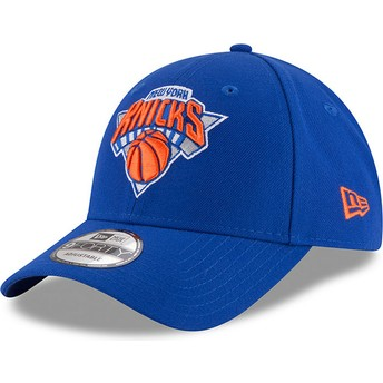 Boné curvo azul ajustável 9FORTY The League da New York Knicks NBA da New Era