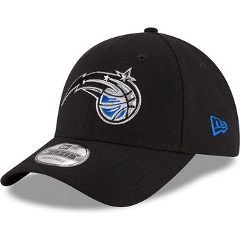 Boné curvo preto ajustável 9FORTY The League da Orlando Magic NBA da New Era