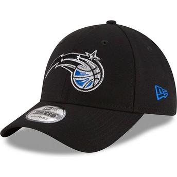 Boné curvo preto ajustável 9FORTY The League da Orlando Magic NBA da New Era