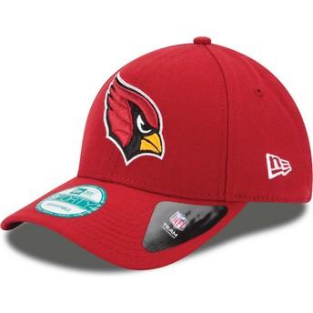 Boné curvo vermelho ajustável 9FORTY The League da Arizona Cardinals NFL da New Era