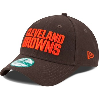 Boné curvo castanho ajustável 9FORTY The League da Cleveland Browns NFL da New Era