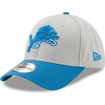 Boné curvo cinza e azul ajustável 9FORTY The League da Detroit Lions NFL da  New Era 9f38c320c23