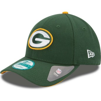 Boné curvo verde ajustável 9FORTY The League da Green Bay Packers NFL da New Era