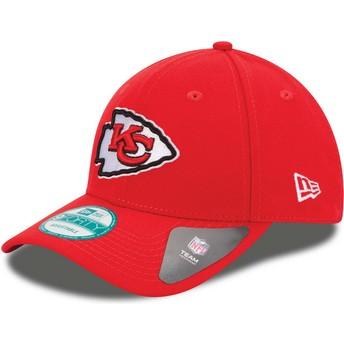 Boné curvo vermelho ajustável 9FORTY The League da Kansas City Chiefs NFL da New Era