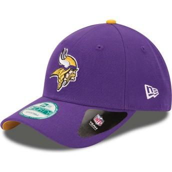 Boné curvo violeta ajustável 9FORTY The League da Minnesota Vikings NFL da New Era