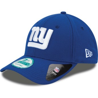 Boné curvo azul ajustável 9FORTY The League da New York Giants NFL da New Era