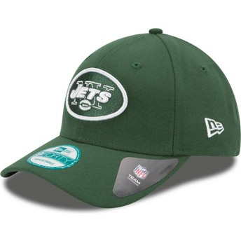 Boné curvo verde ajustável 9FORTY The League da New York Jets NFL da New Era