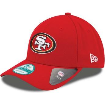 Boné curvo vermelho ajustável 9FORTY The League da San Francisco 49ers NFL da New Era