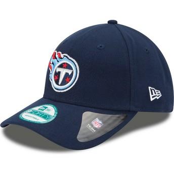 Boné curvo azul marinho ajustável 9FORTY The League da Tennessee Titans NFL da New Era