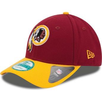 Boné curvo vermelho e amarelo ajustável 9FORTY The League da Washington Redskins NFL da New Era