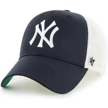 Boné trucker preto para criança da New York Yankees MLB MVP Branson da 47 Brand
