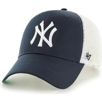 Boné trucker azul marinho para criança da New York Yankees MLB MVP Branson da 47 Brand