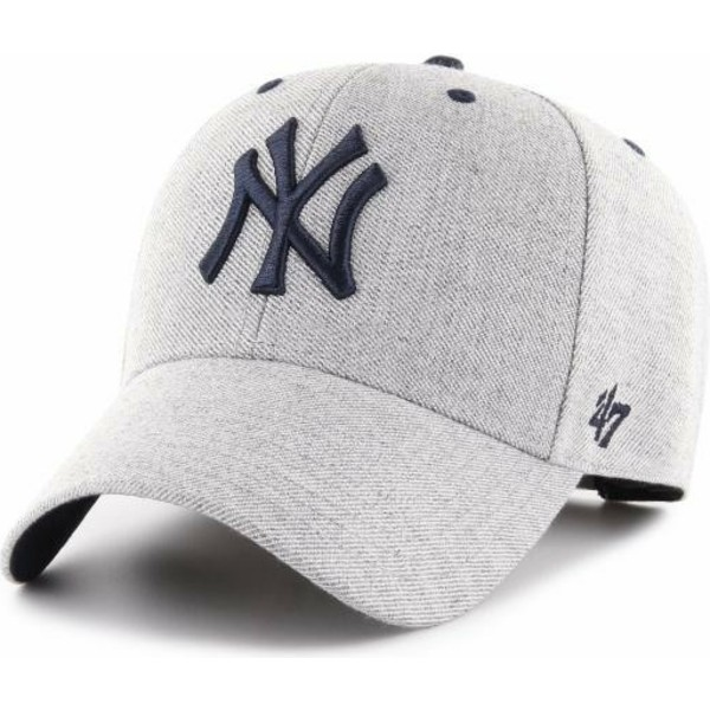 63cff38b581ae Boné curvo cinza ajustável da New York Yankees MLB MVP Storm Cloud ...
