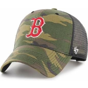 Boné trucker camuflagem da Boston Red Sox MLB MVP Branson da 47 Brand