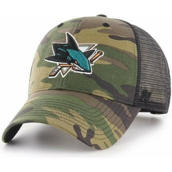Boné trucker camuflagem da San Jose Sharks NHL MVP Branson da 47 Brand