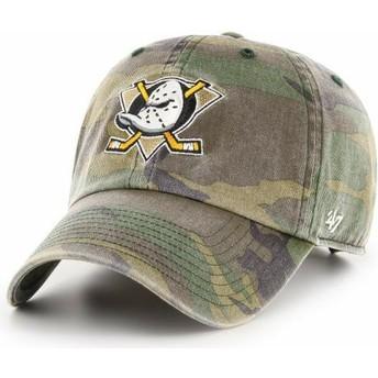 Boné curvo camuflagem ajustável da Anaheim Ducks NHL Clean Up da 47 Brand