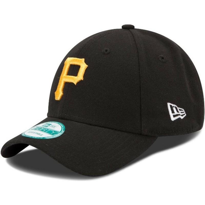 dc9e842a0 Boné curvo preto ajustável 9FORTY The League da Pittsburgh Pirates ...